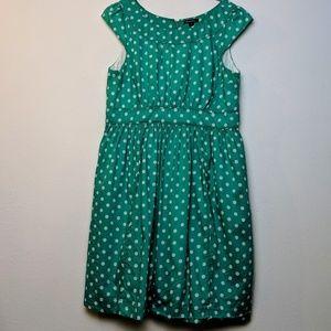 Modcloth Teal Polka Dot Dress